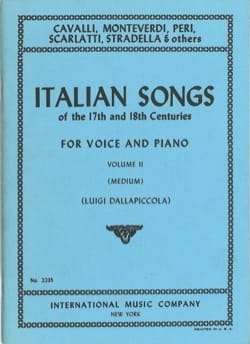 - Italian Songs 17 And 18 Th Century Volume 2 - Partition - di-arezzo.fr