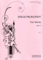 Sergei Prokofiev - 4 Stücke Opus 4 - Partition - di-arezzo.co.uk