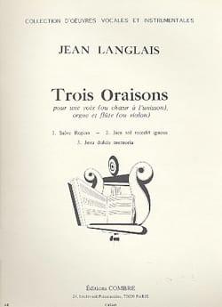 Jean Langlais - 3 Oraisons Op. 174 - Partition - di-arezzo.fr