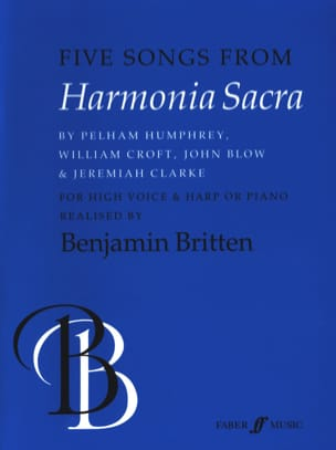 Benjamin Britten - 5 Songs From Harmonia Sacra - Partition - di-arezzo.fr