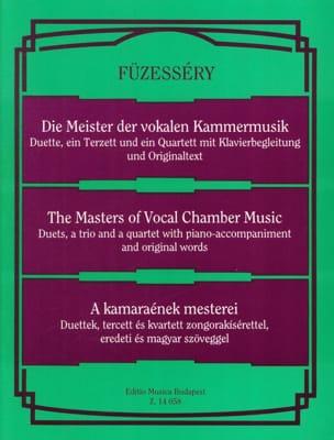 Les Maîtres de la Musique de Chambre Vocale. Partition laflutedepan