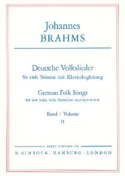 Deutsche Volkslieder Volume 2 Voix Grave BRAHMS Partition laflutedepan
