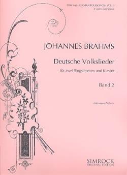 BRAHMS - Deutsche Volkslieder Volume 2 - Partition - di-arezzo.fr