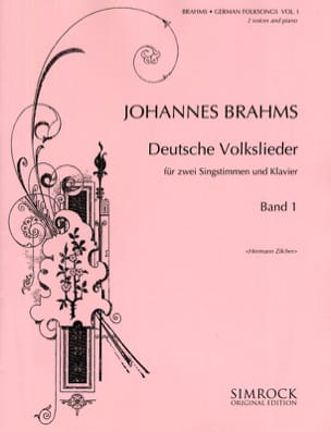 Deutsche Volkslieder (Duos) Volume 1 BRAHMS Partition laflutedepan