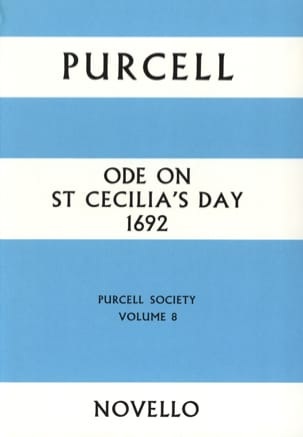 Ode On St Cecilia's Day 1692 PURCELL Partition Chœur - laflutedepan