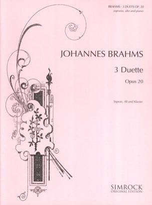 3 Duos Opus 20 BRAHMS Partition Duos - laflutedepan