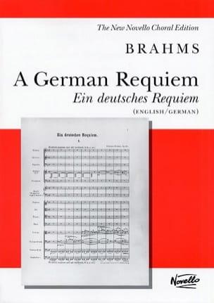 Ein Deutsches Requiem Opus 45 BRAHMS Partition Chœur - laflutedepan