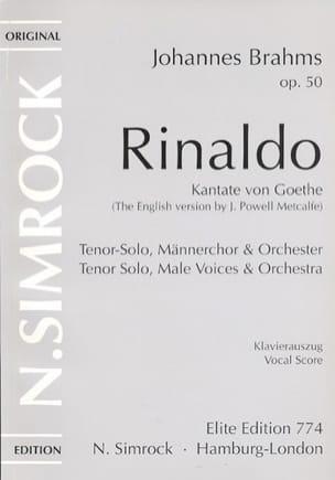 Johannes Brahms - Rinaldo Op. 50 - Partition - di-arezzo.fr