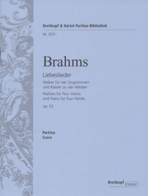 BRAHMS - Liebeslieder Walzer Opus 52 - Partition - di-arezzo.co.uk