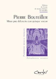 Pierre Bouteiller - Missa Pro Defunctis Cum 5 Vocum - Sheet Music - di-arezzo.com