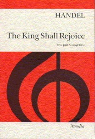 Georg-Friedrich Haendel - The King Shall Rejoice - Partition - di-arezzo.fr