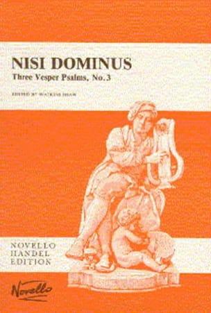 Georg-Friedrich Haendel - Nisi Dominus - Partition - di-arezzo.fr