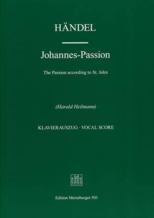 Georg-Friedrich Haendel - Johannes-Passion - Partition - di-arezzo.fr