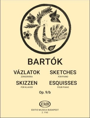 Bela Bartok - Esquisses Opus 9b. - Partition - di-arezzo.fr