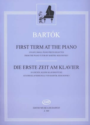 First Term At The Piano - Bela Bartok - Partition - laflutedepan.com