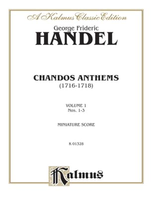 HAENDEL - Chandos Anthem Volume 1 n° 1 A 3 - Partition - di-arezzo.fr
