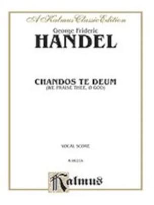 Georg-Friedrich Haendel - Chandos te Deum - Partition - di-arezzo.fr