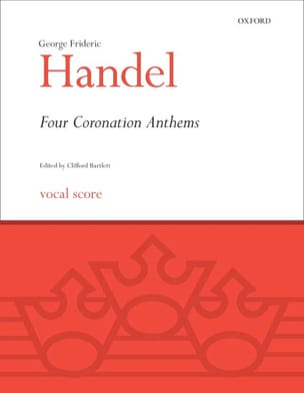4 Coronation Anthems HAENDEL Partition Chœur - laflutedepan