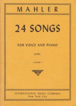 24 Songs Volume 2. Voix Grave - MAHLER - Partition - laflutedepan.com
