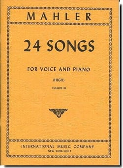 24 Songs Volume 3 Voix Haute MAHLER Partition Mélodies - laflutedepan