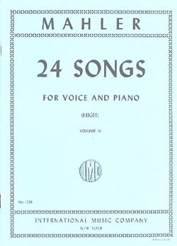24 Songs Volume 4. Voix Haute - MAHLER - Partition - laflutedepan.com