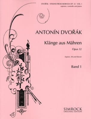 DVORAK - Klänge Aus Mähren Opus 32 Volume 1 - Sheet Music - di-arezzo.co.uk