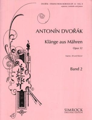 DVORAK - Klänge Aus Mähren Opus 32 Volume 2 - Partition - di-arezzo.fr