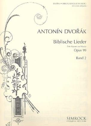 Biblische Lieder Opus 99 Voix Grave Volume 2 DVORAK laflutedepan