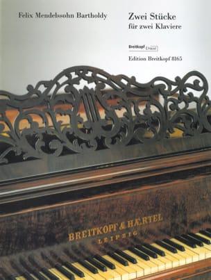 2 Stücke. 2 Pianos - MENDELSSOHN - Partition - laflutedepan.com