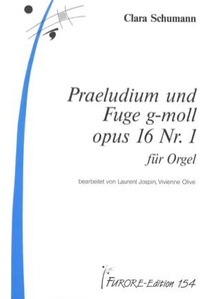 Clara Schumann - Preludium Und Fugue G Moll Op. 16-1 - Partition - di-arezzo.fr
