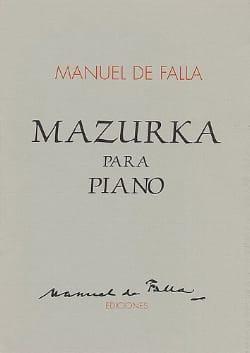 Mazurka - Manuel de Falla - Partition - Piano - laflutedepan.com