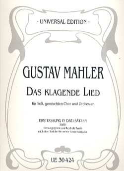 Das Klagende Lied 1ère version 1880 - Gustav Mahler - laflutedepan.com