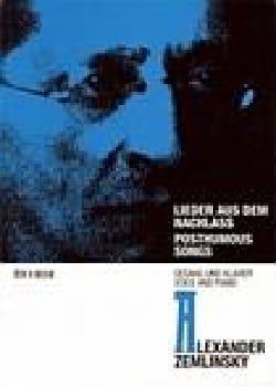 Alexander Zemlinsky - Lieder Aus Dem Nachlass - Partition - di-arezzo.fr