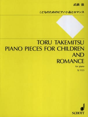 Toru Takemitsu - Pieces For Children And Romance Piano - Sheet Music - di-arezzo.co.uk