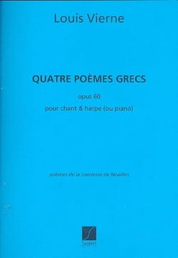 Louis Vierne - 4 Poems Greek Opus 60 - Sheet Music - di-arezzo.com