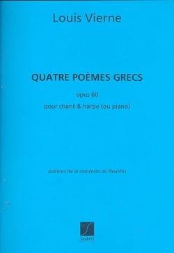 4 Poèmes Grecs Opus 60 VIERNE Partition Harpe - laflutedepan