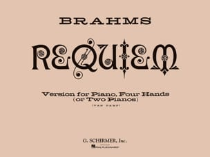 Ein Deutsches Requiem Opus 45. 4 Mains BRAHMS Partition laflutedepan
