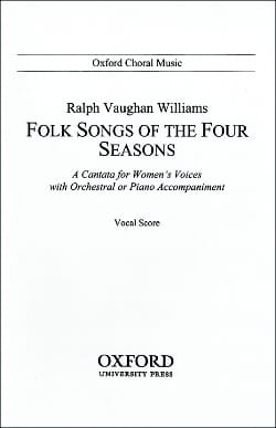 Williams Ralph Vaughan - Folksongs Of The 4 Seasons. - Partition - di-arezzo.fr