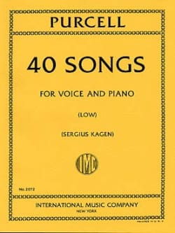 Henry Purcell - 40 Songs. Deep voice - Sheet Music - di-arezzo.com