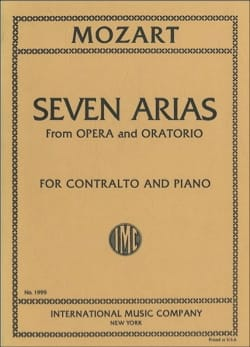 MOZART - 7 Arias From Opera And Oratorio Contralto - Sheet Music - di-arezzo.com