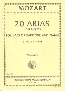 MOZART - 20 Arias From Opera. Volume 2. Baritone Or Bass - Sheet Music - di-arezzo.com
