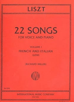 22 Songs Volume 1. Voix Grave LISZT Partition Mélodies - laflutedepan