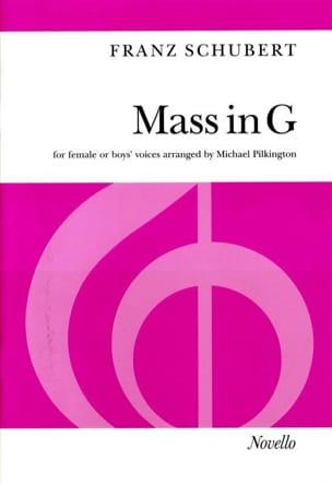 Messe En Sol Majeur D 167. SSA SCHUBERT Partition Chœur - laflutedepan