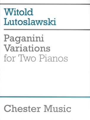Witold Lutoslawski - Variations on 1 Theme of Paganini 2 Pianos - Sheet Music - di-arezzo.co.uk