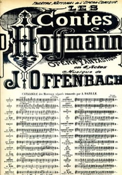 Jacques Offenbach - She fled, the Turtledove. Tales of Hoffmann N ° 12 - Sheet Music - di-arezzo.co.uk