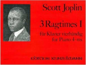 Scott Joplin - 3 Ragtimes Volume 1. 4 Mains - Partition - di-arezzo.fr