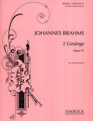 Johannes Brahms - 2 Gesänge Opus 91 - Partition - di-arezzo.fr
