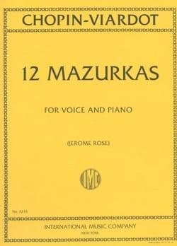 12 Mazurkas Chopin Frédéric / Viardot Pauline Partition laflutedepan