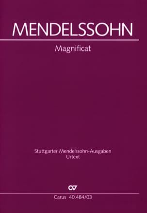 Magnificat MENDELSSOHN Partition Chœur - laflutedepan