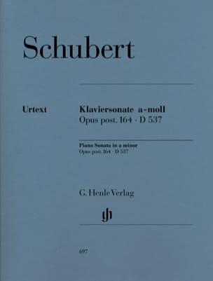 Sonate pour piano en la mineur Opus Posth. 164. D 537 - laflutedepan.com